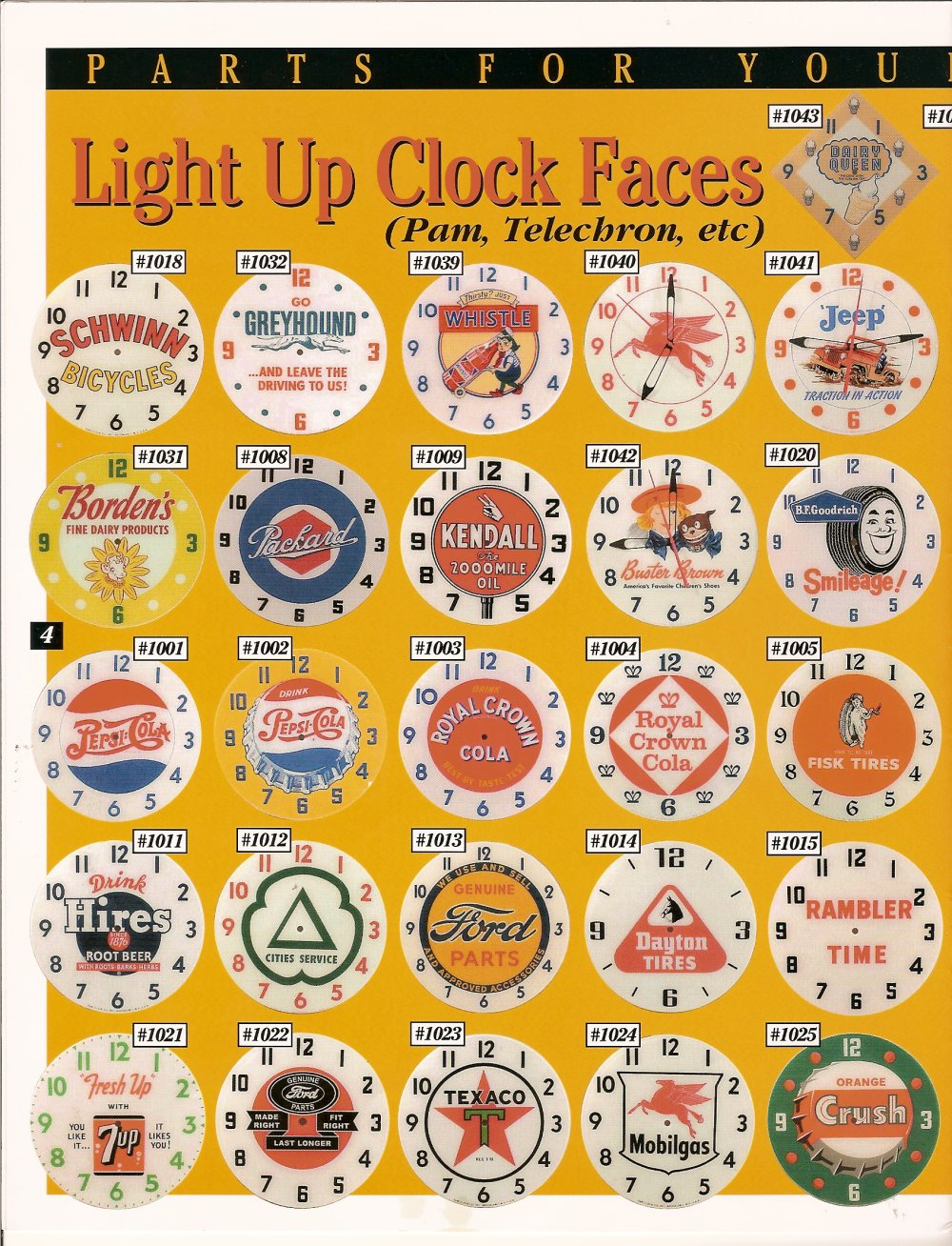 Waynes Neon Clocks Replacement Parts For Clock Wiring Diagram Catalogpage4